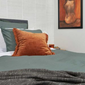 LAUNDERED LINEN Duvet Set Seagrass and Accessories